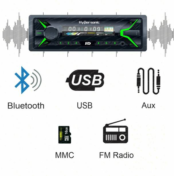 Hypersonic HYP-2092 UNIVERSAL SINGLE DIN CAR STEREO Car Stereo