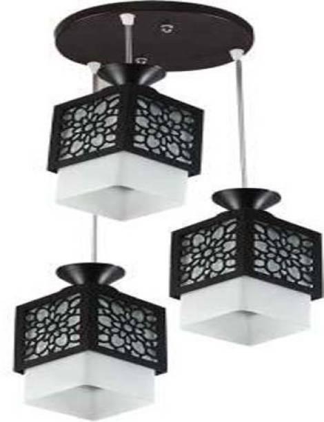 Zuper Wooden Thali Lamp Style Lamp Creative Wood Pendant Light Lamp suitable for Living Room,Foyer,Bedroom,Hallway Pendants Ceiling Lamp