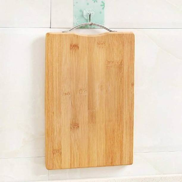 Shopeleven Premium Quality Cutting/Chopping Board with Handle Size:- (34*24) Wooden Cutting Board Wooden Cutting BoardWC11 (Brown Pack of 1) Bamboo Cutting Board