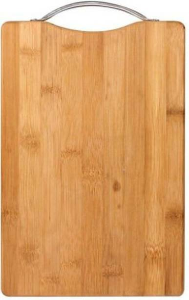 Shopeleven Premium Quality Cutting/Chopping Board with Handle Size:- (34*24) Wooden Cutting Board Wooden Cutting BoardWC20 (Brown Pack of 1) Bamboo Cutting Board