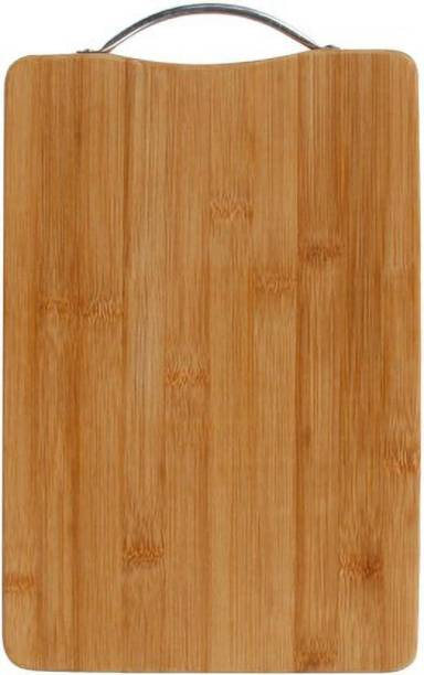 Shopeleven Premium Quality Cutting/Chopping Board with Handle Size:- (34*24) Wooden Cutting Board Wooden Cutting BoardWC26 (Brown Pack of 1) Bamboo Cutting Board