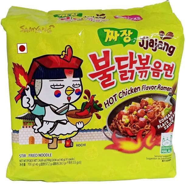 Samyang Hot Chicken Ramen JJAJANG Noodles Hakka Noodles Non-vegetarian