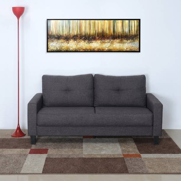 @Home by nilkamal Parry Fabric 3 Seater  Sofa