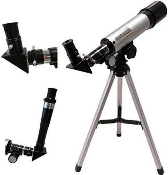 Dhuli Land & Sky Telescope - Optical Glass & Metal Tube Refractor Telescope (90X Power) with Tripod & 2 Eyepiece Scerts Refracting Telescope