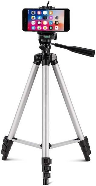 ZURU BUNCH Multi-function 3110 Tripod Stand for Phone and Camera Adjustable Aluminum Alloy Tripod Stand Holder for Mobile Phones & Camera, Photo/Video Shoot (BLACK) Tripod