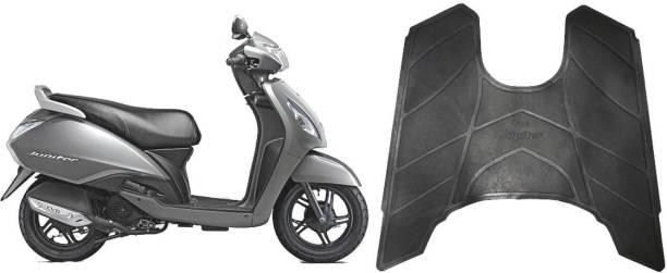 shiv ambika Black Floor mat Black Foot Mat With Perfect Fitting TVS Jupiter Two Wheeler Mat