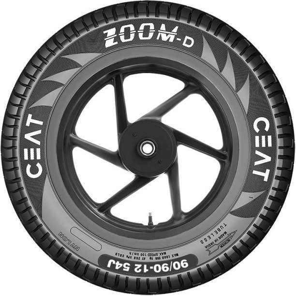CEAT 102074 ZOOM D TL 54J 90/90-12 Front & Rear Tyre