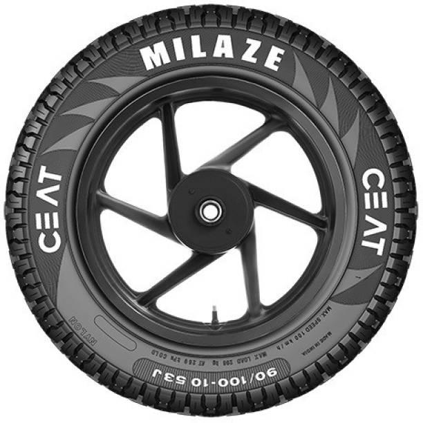 CEAT 105918 Milaze TL 53J SW 90/100-10 Front & Rear Tyre