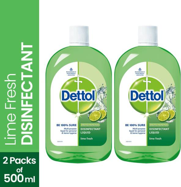 DETTOL Multi-use Hygiene Liquid, Lime Fresh - 500 ml Antiseptic Liquid