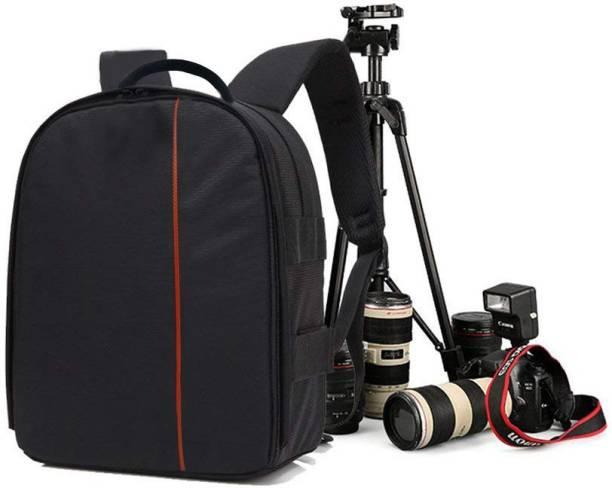 World Look Camera Backpack Waterproof, DSLR Camera, Lens,Camera Accessories Camera Bag (Orange, Black)  Camera Bag