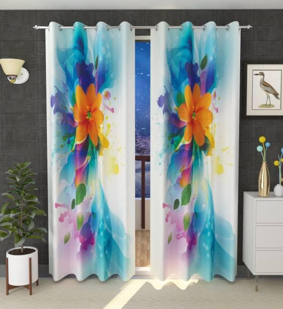 Luxury Crafts 214 cm (7 ft) Polyester Door Curtain Single Curtain