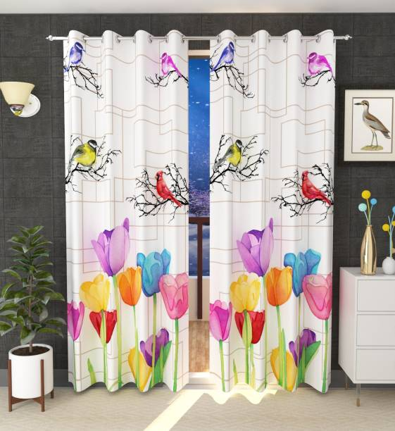 Luxury Crafts 214 cm (7 ft) Polyester Door Curtain Single Curtain