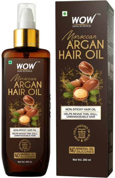 WOW SKIN SCIENCE Moroccan Argan Hair Oil - 200 mL Hair Oil