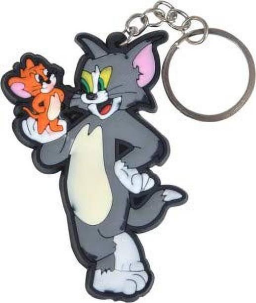 Raj Tom and Jerry Single Sided Key Chain (Multi-Color) Key Chain
