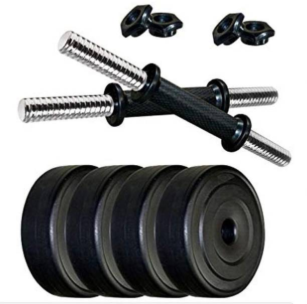 RV Fitness Dumbbell Set of 10kg PVC Plates with 2 RODS Gym & Fitness Kit