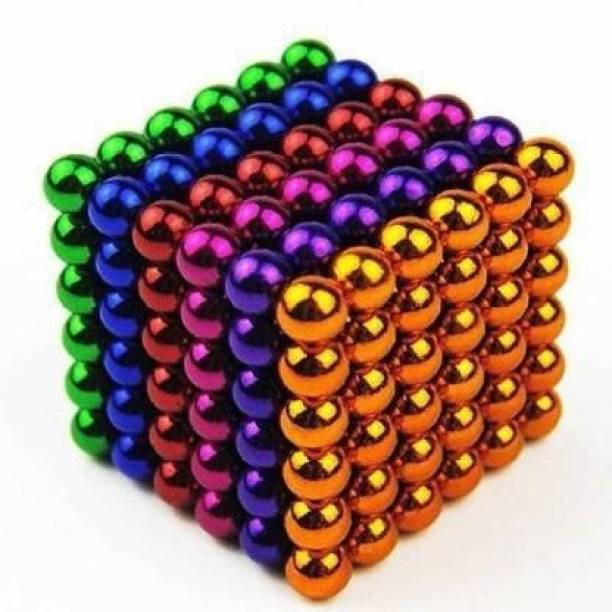 HUBSTAR Multicolor Magnetic Ball c6 for Stress Relief Cube Toy A91 Multipurpose Office Magnets Pack of 1