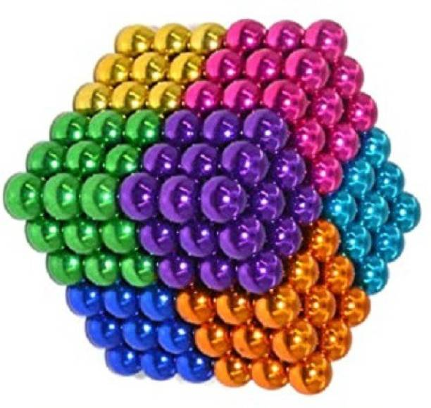 HUBSTAR JOYFUL Multicolor Magnetic Ball for Stress Relief Cube Toy A19 Multipurpose Office Magnets Pack of 1