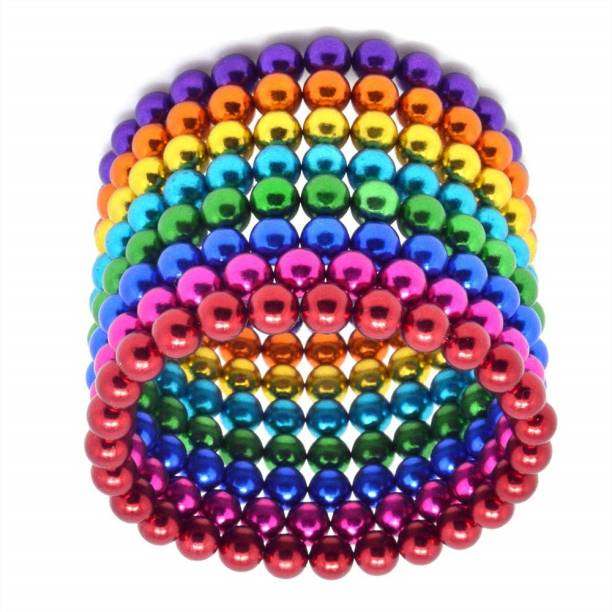HUBSTAR UNIVERSAL Multicolor Magnetic Ball for Stress Relief Cube Toy A3 Multipurpose Office Magnets Pack of 1