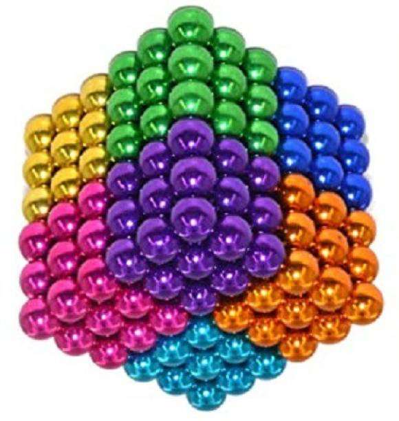 HUBSTAR Multicolor Magnetic Ball b5 for Stress Relief Cube Toy A80 Multipurpose Office Magnets Pack of 1