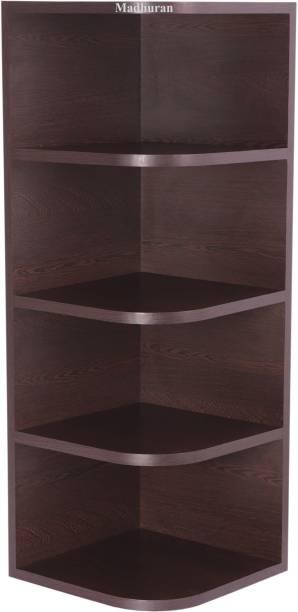 Madhuran Corner Shelf Set Particle Board Wall Shelf