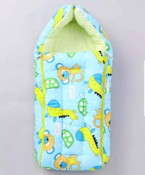 BRANDONN New Born All Season Hooded 3 in 1 Premium Cotton Baby Blanket Sleeping Bag