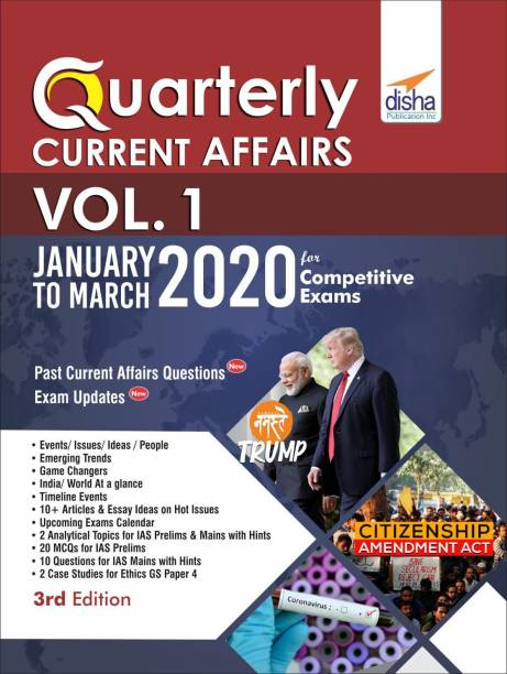 Quarterly Current Affairs 2020 January to March - for Competitive Exams