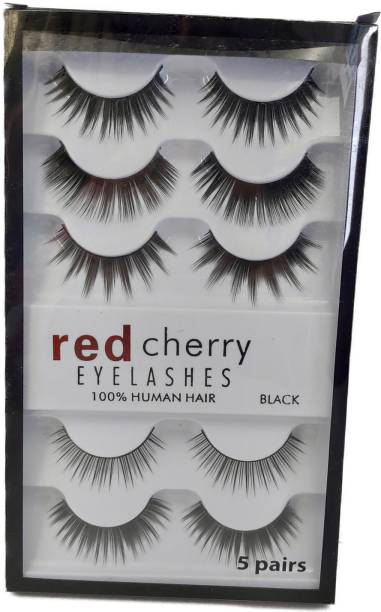 red cherry Fashion 5 Eye Lashes with 100% Humans Hairs