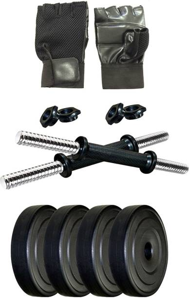 Adrenex by Flipkart 10 kg 10 kg Fitness Equipments with Accessories Home Gym Combo