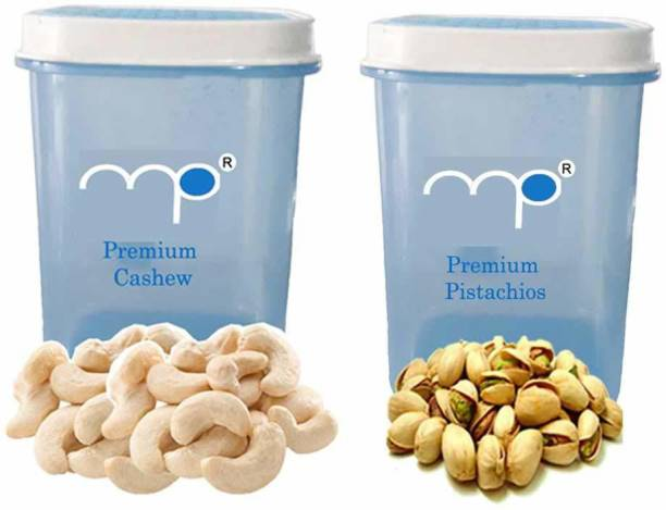 Maalpani Premium Combo of Cashew Nut (Kaju) and Pistachio (Pista) in Attractive Air Tight Container 200g + 200g Dry Fruit Hamper |Gift Hamper Box Pack Pistachios, Cashews