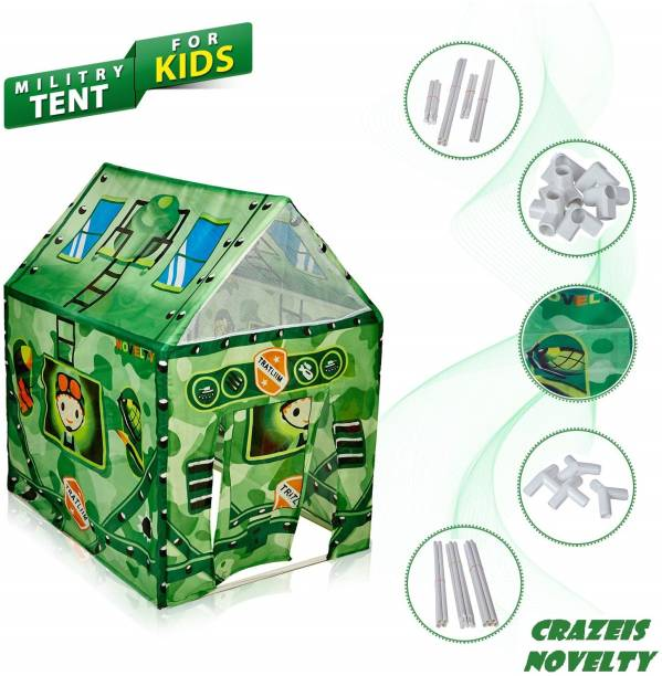 Crazeis Military Play tent House without Wheels and LED light