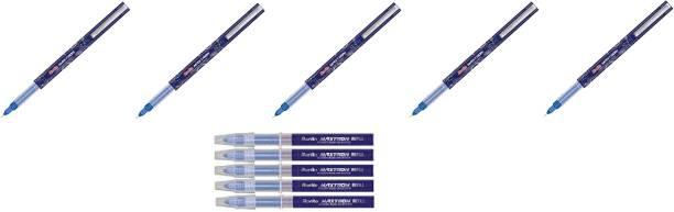Rorito Maxtron Blue 5 pen and 5 Blue refills Gel Pen