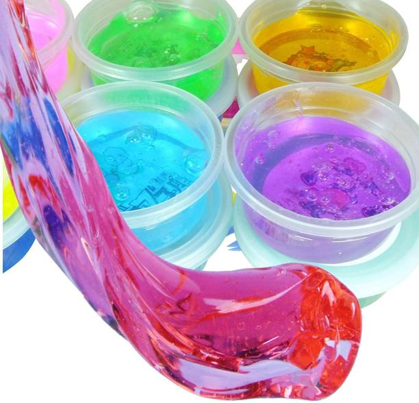 NUVO MEDSURG Soft Crystal Clay Slime for Kids (Set of 6) Multicolor Putty Toy