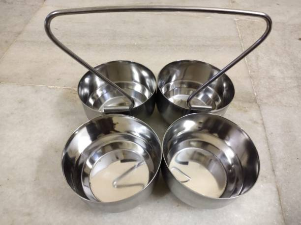 scotrade Stainless Steel Pickle Condiment Chip N Dip Relish Serving Set Bowl, Tray Serving Set