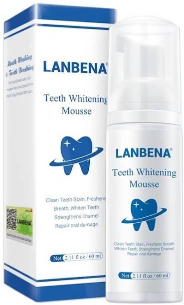 LANBENA Teeth Whitening Mousse Oral Hygiene Toothpaste Toothpaste