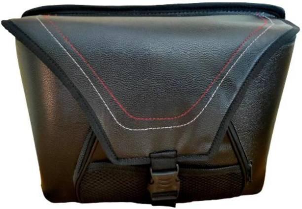 M MOD CON One-side With Number Lock Waterproof Leather 2 Wheeler Bag Black One-side Black Leatherette Motorbike Saddlebag