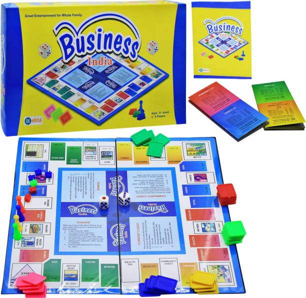Ekta Business India A Board Game of Buying, Selling, Banking, Mortgaging, etc. Kids Toys Games, Bonanza Buy Business Game online Money & Assets Games Board Game