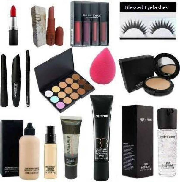 Blessed cosmetic Combo Kit of 15 pieces items set