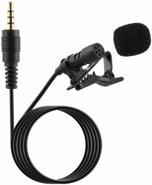 Giffy ™3.5mm Clip Microphone For Youtube   Collar Mike for Voice Recording   Lapel Mic Mobile, PC, Laptop, Microphone
