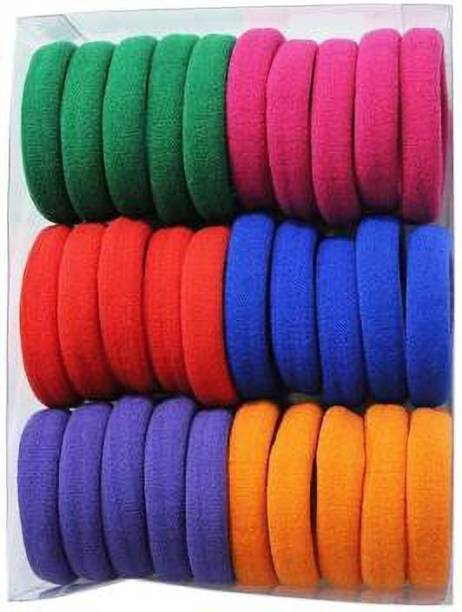 Heezal Enterprise Rubber Multi-Colour Pony Round Hair BandSet Of 30 Pcs. rubber band Rubber Band