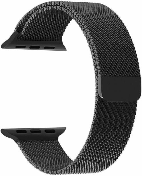 ZITEL Stainless Steel Milanese Strap Band with Magnetic Closure For iWatch 42mm Series 2, Series 3 - Black Smart Watch Strap Smart Watch Strap