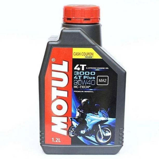 MOTUL 3000 HI-TEC 10W30 /20W40 1.2L BIKE ENGINE OIL MOTUL 3000 4T PLUS 10W30 /20W40 1.2L BIKE ENGINE OIL Synthetic Blend Engine Oil