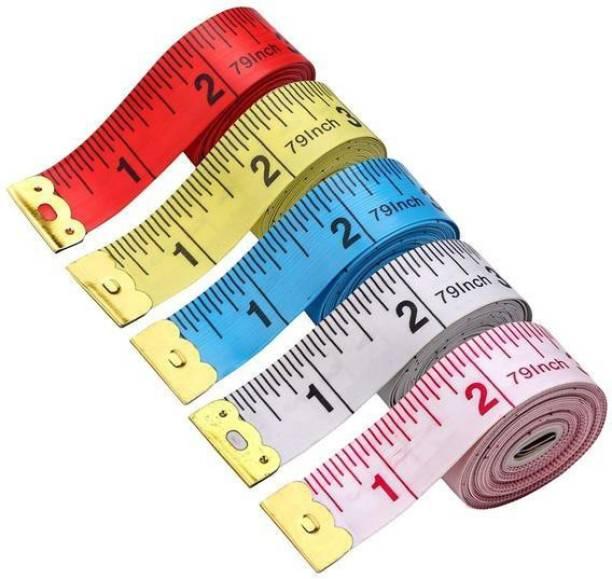 Royal Villa Measuring Ruler Sewing Cloth Tailor Measurement Tape - Multicolour, Pack of 4 Measurement Tape