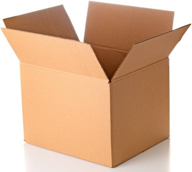 Chirag Enterprise Corrugated Cardboard 18x12x12 Inches 3Ply, Moving, Packing, E Commerce Packaging Box