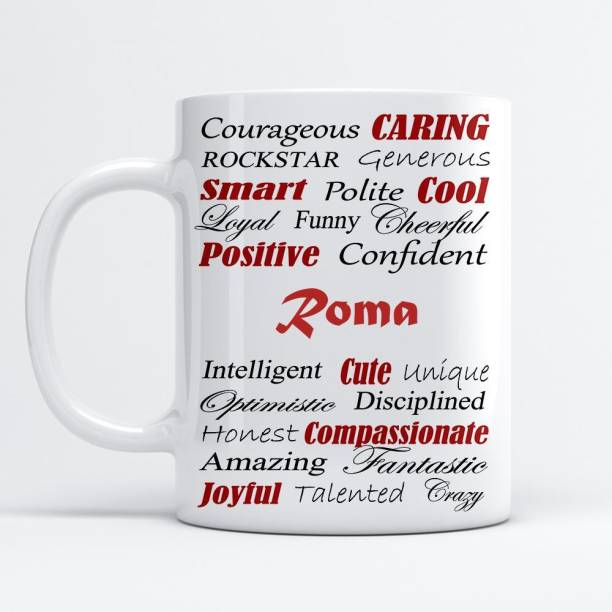 Beautum Amazing Personality Roma (350) ml Good Personality White Ceramic Coffee Mug