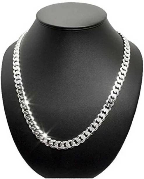 Fashion Frill Silver Jewellery Silver Chain For Boys Necklace For Men Boyfriend Gents Girls Sterling Silver Plated Stainless Steel Chain