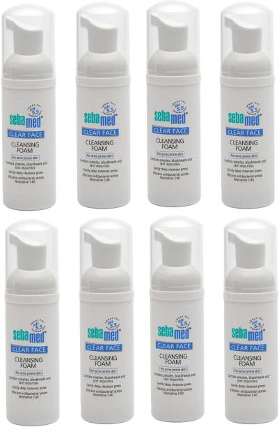 Sebamed Clear Face Cleansing foam ( 50 ML) - Pack of 8 for men and women