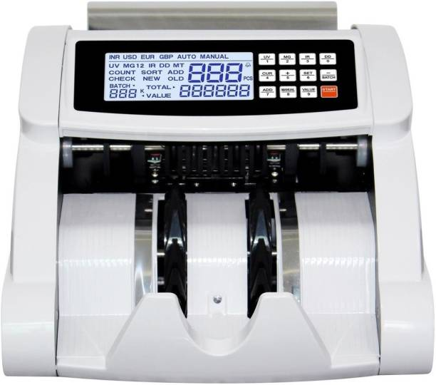 Drop2Kart HeavyDuty LCD Cash Counter with Dual Motor and ADD & BATCH Mode, UV/MG Note Sensor Note Counting Machine