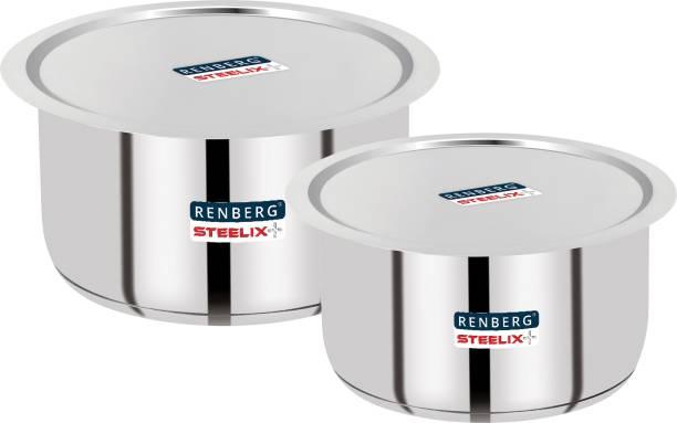 Renberg Steelix Plus Tope Set with Lid 3.5 L, 4.3 L capacity 20 cm, 22 cm diameter