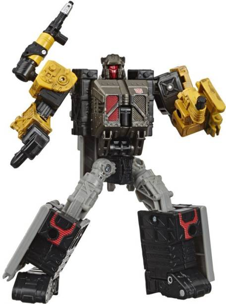 TRANSFORMERS Toys Generations War for Cybertron:Earthrise Deluxe WFC-E8 Ironworks Modulator Figure,Kids Ages 8&Up