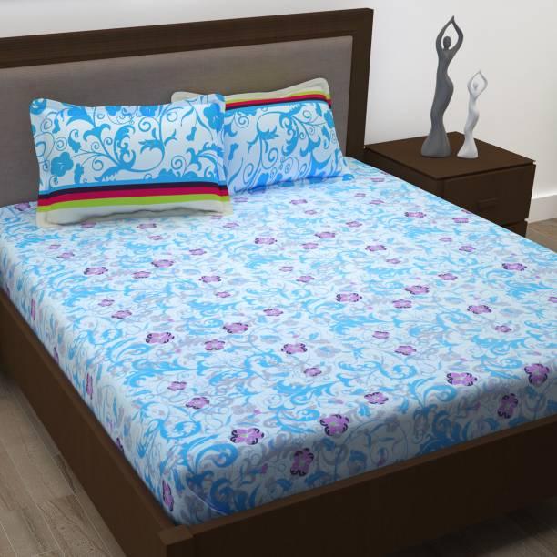 Story@home 186 TC Cotton Double Floral Bedsheet